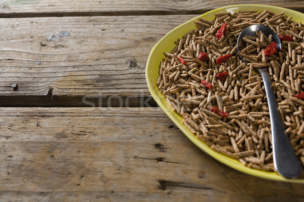 Cereal bran sticks with spoon in plate Stock photo © wavebreak_media