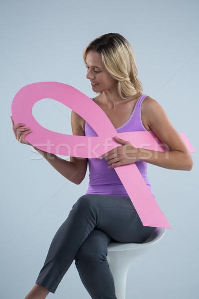 Cáncer de mama conciencia cinta sesión Foto stock © wavebreak_media
