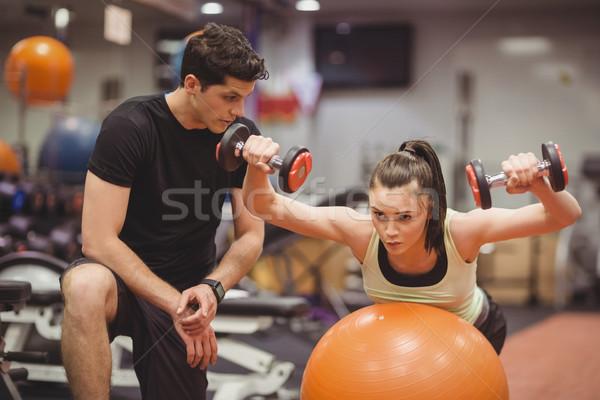 Dopasować kobieta trener siłowni sportu Zdjęcia stock © wavebreak_media