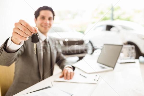 Sorridente vendedor cliente Foto stock © wavebreak_media