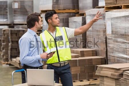 Portrait of smiling warehouse managers Stock photo © wavebreak_media