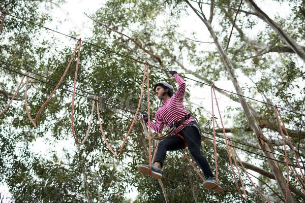 Kadın hat macera park Stok fotoğraf © wavebreak_media