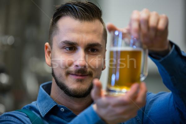 Close-up of brewer testing beer Stock photo © wavebreak_media