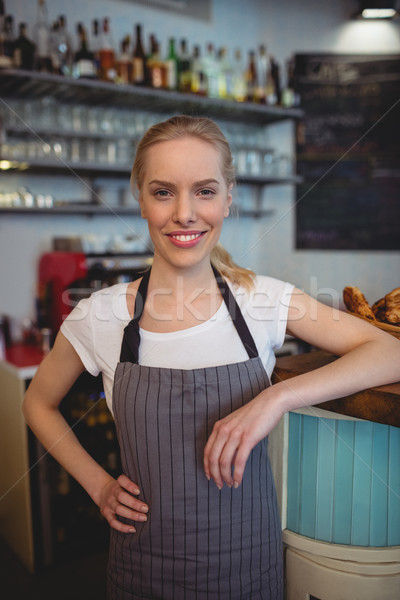 Portrait of confident female worker at coffee house Stock photo © wavebreak_media