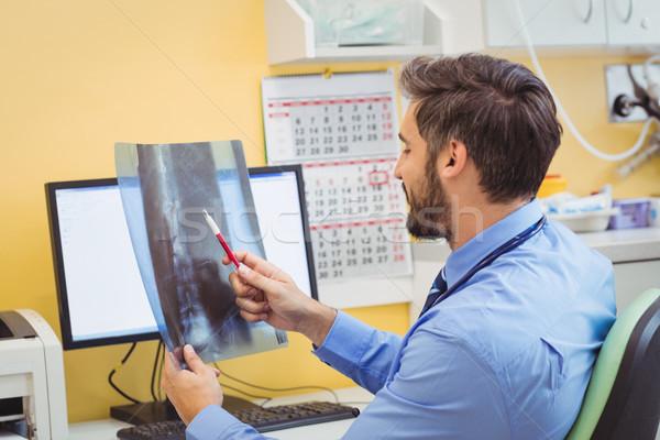 Doktor xray hastane bilgisayar adam Stok fotoğraf © wavebreak_media