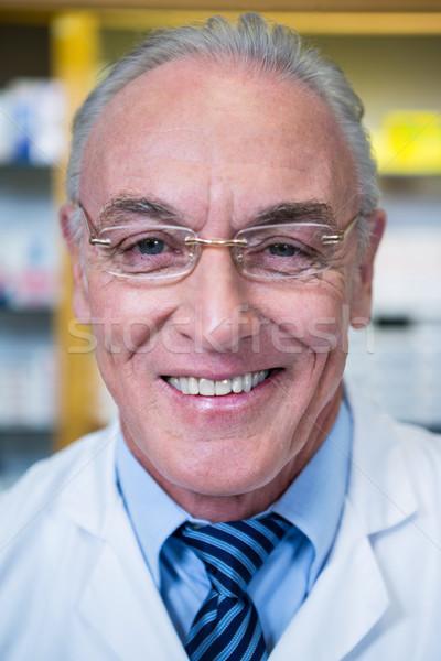 藥劑師 微笑 藥房 肖像 男子 醫生 商業照片 © wavebreak_media