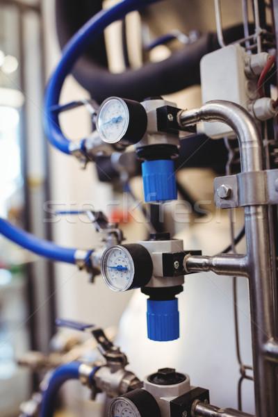 Meter gauge on pipeline of equipment Stock photo © wavebreak_media