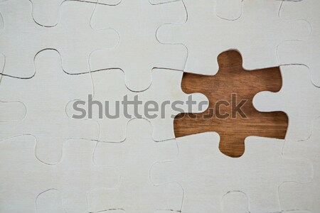 Plain white jigsaw puzzle Stock photo © wavebreak_media