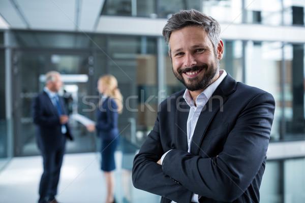 портрет бизнесмен Постоянный служба коридор Сток-фото © wavebreak_media