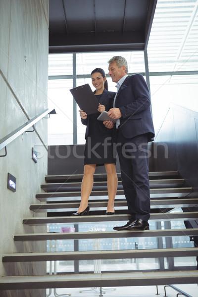 Iş merdiven ofis Stok fotoğraf © wavebreak_media