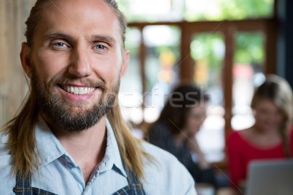 Retrato masculina barista Cafetería negocios mujer Foto stock © wavebreak_media
