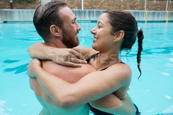 Para basen wody człowiek szczęśliwy Zdjęcia stock © wavebreak_media