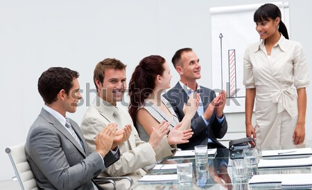 Business people at a presentation Clapping Stock photo © wavebreak_media