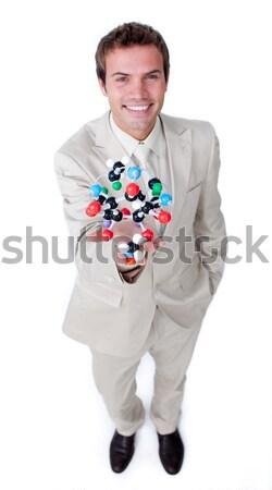 Zakenvrouw naar geïsoleerd witte vrouw kantoor Stockfoto © wavebreak_media