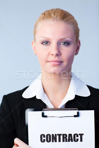 Donna contratto appunti business Foto d'archivio © wavebreak_media