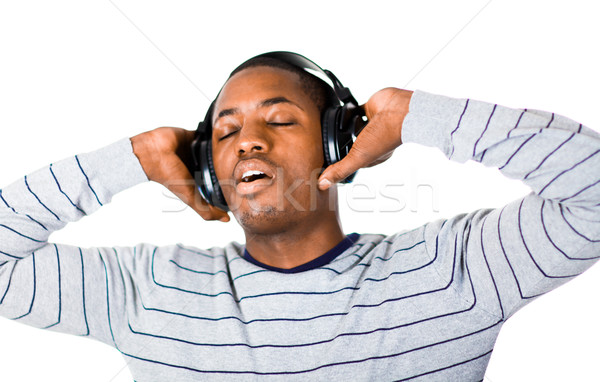 young adult listening to music Stock photo © wavebreak_media