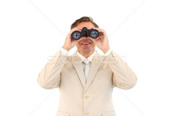 Dostça işadamı bakıyor dürbün kıdemli adam Stok fotoğraf © wavebreak_media