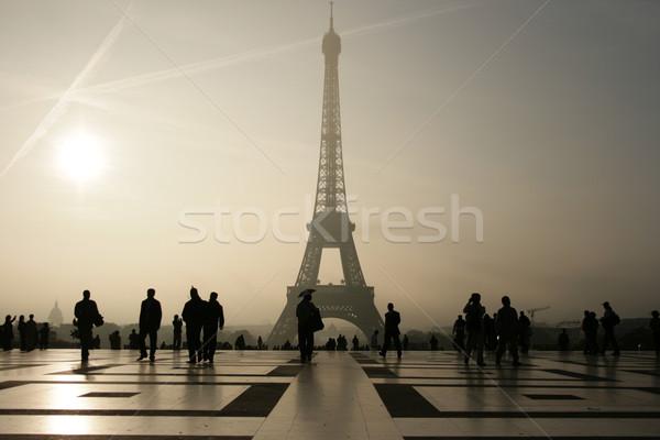 Eiffel-torony utazás retro acél ünnep vakáció Stock fotó © wavebreak_media