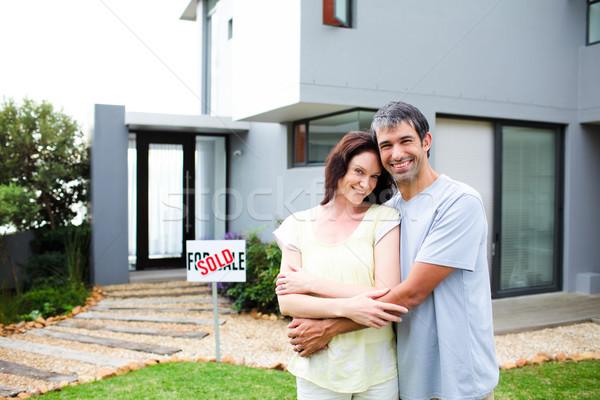 Heureux maison amour couple Photo stock © wavebreak_media