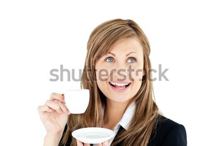 Foto d'archivio: Elegante · giovani · imprenditrice · Cup · caffè