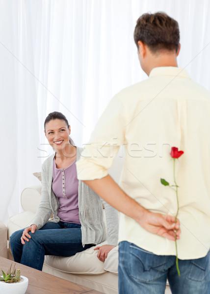 Apasionado hombre oculto aumentó detrás atrás Foto stock © wavebreak_media