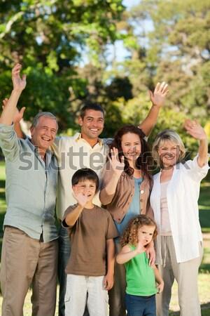 Család néz kamera park boldog anya Stock fotó © wavebreak_media