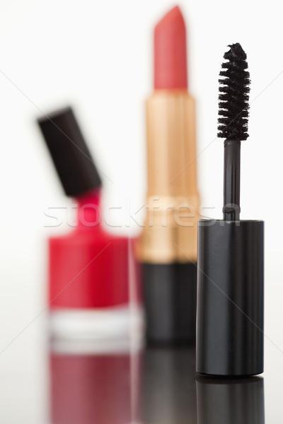 Mascara buis lippenstift nagellak camera Stockfoto © wavebreak_media