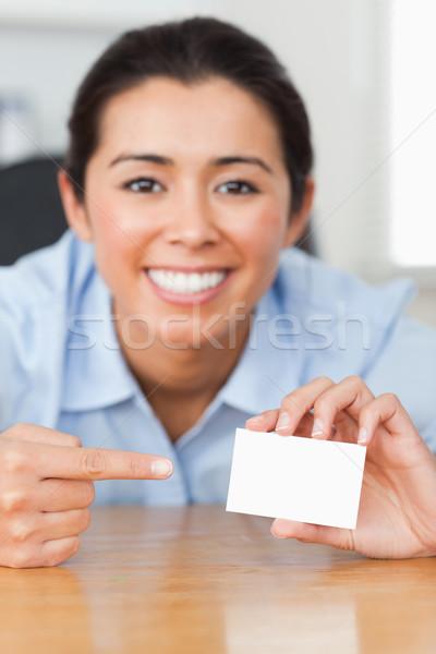 очаровательный женщину карт служба счастливым Сток-фото © wavebreak_media