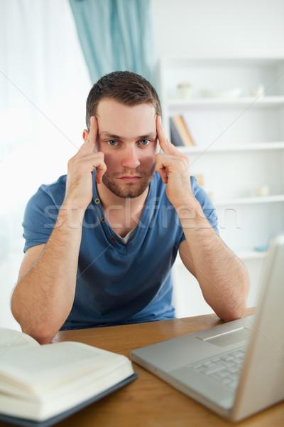 Male student having problems finding a proper solution Stock photo © wavebreak_media