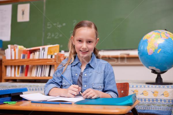 かわいい 女学生 見える カメラ 笑顔 世界中 ストックフォト © wavebreak_media
