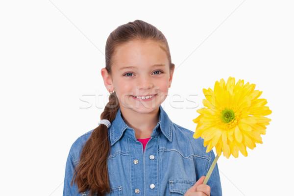 Ragazza fiore giallo fiore bianco faccia madre Foto d'archivio © wavebreak_media