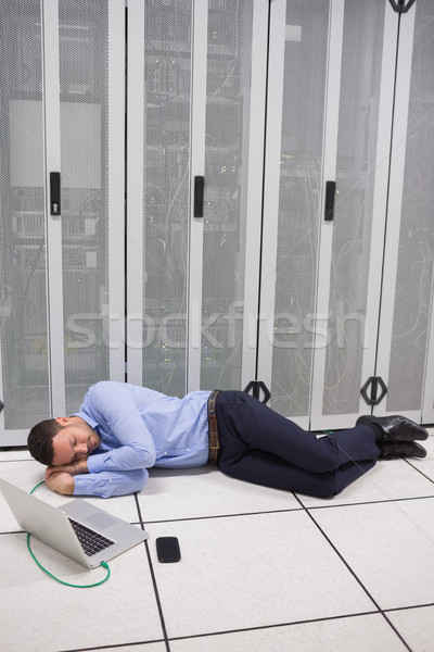 Mann Rechenzentrum Stock Arbeit Netzwerk Arbeitnehmer Stock foto © wavebreak_media