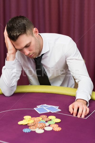 человека покер таблице глядя разочарованный Сток-фото © wavebreak_media