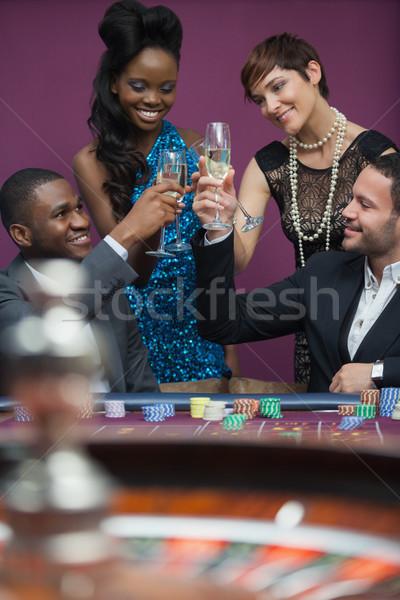 Pessoas óculos roleta tabela cassino mulher Foto stock © wavebreak_media