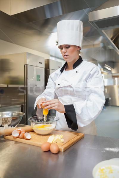 Baker cuisine alimentaire restaurant pain oeufs Photo stock © wavebreak_media