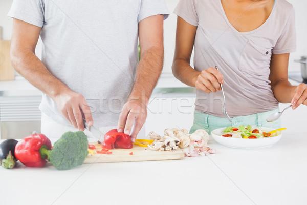 Couple making a salad Stock photo © wavebreak_media