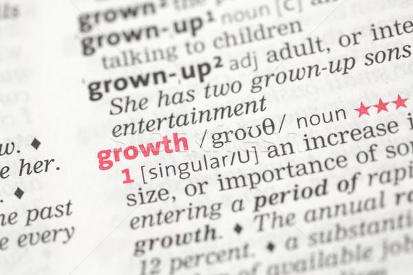 成長 定義 辞書 赤 情報 コンセプト ストックフォト © wavebreak_media