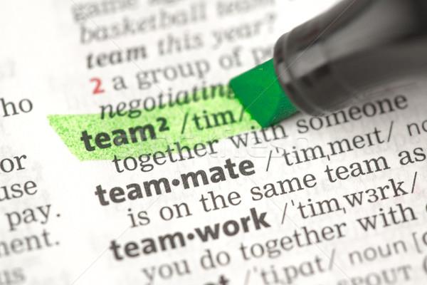 команда определение зеленый словарь информации изучения Сток-фото © wavebreak_media