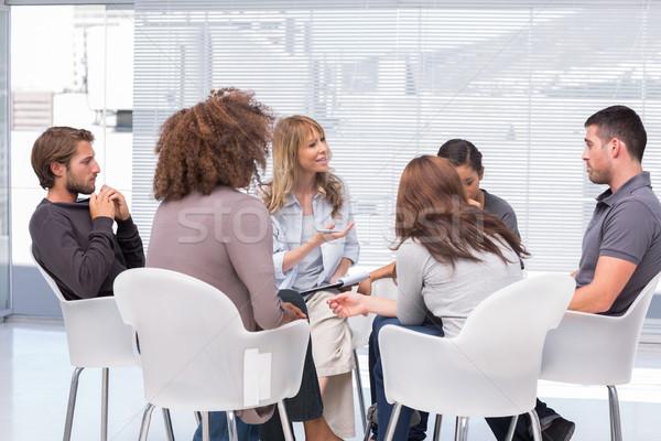 группа терапии сидят круга служба заседание Сток-фото © wavebreak_media