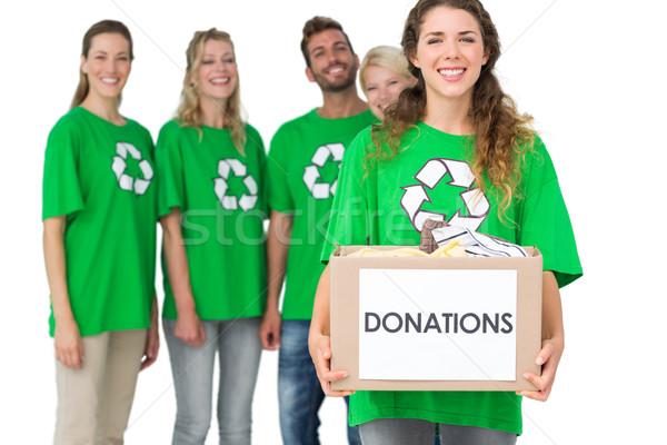 Persone riciclaggio simbolo donazione finestra gruppo Foto d'archivio © wavebreak_media
