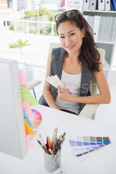 Portré női fotó szerkesztő munka fényes Stock fotó © wavebreak_media