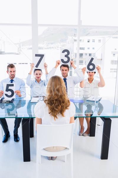 группа панель счет признаков женщину Сток-фото © wavebreak_media