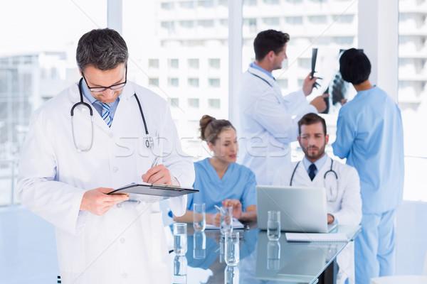 Stock fotó: Orvosok · munka · orvosi · iroda · koncentrált · számítógép
