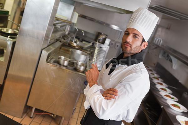 Gericht chef naar camera Stockfoto © wavebreak_media
