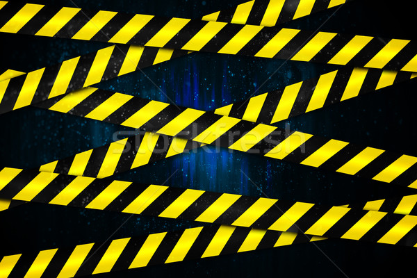 Yellow and black cordon tape Stock photo © wavebreak_media