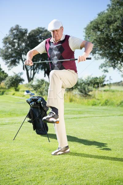 Boos golfer pauze club golfbaan Stockfoto © wavebreak_media