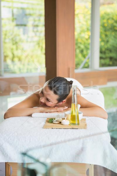 Foto d'archivio: Bruna · massaggio · tavola · vassoio · bellezza