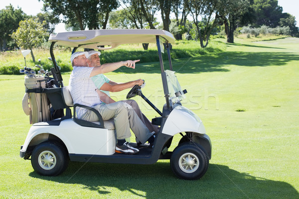 Golf arkadaşlar sürücü golf golf sahası Stok fotoğraf © wavebreak_media