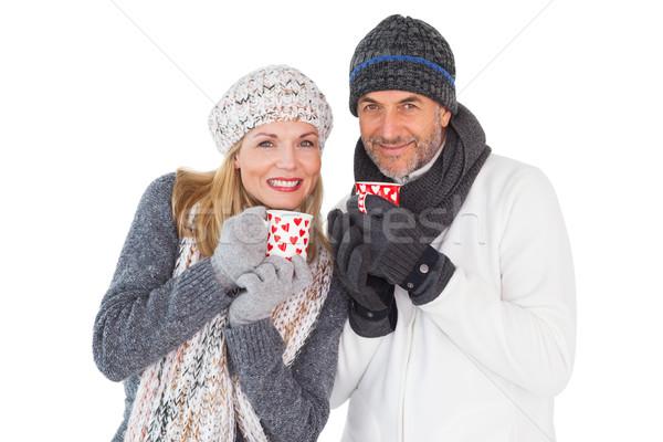счастливым пару зима моде женщину Сток-фото © wavebreak_media