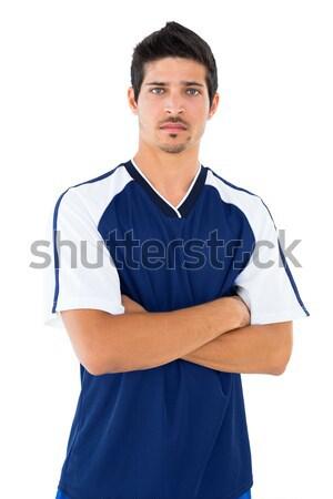 красивый молодым человеком позируют белый портрет Сток-фото © wavebreak_media